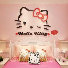 Hello Kitty Cat 3d Three Dimensional Wall Stickers Girl Room Stickers Childrens Room Bedroom Bedside Wall Decoration Decal Stickers For Walls Decal Tree Wall Art From Qiansuning8 22 88 Dhgate Com