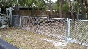 4 Foot High Galvanized Chain Link Youtube