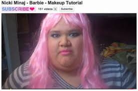 nicki minaj makeup tutorial fail