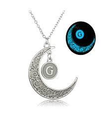 dark hollow out carved moon g letter