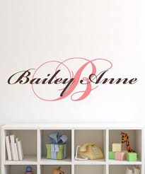 Lollipop Walls Cursive Personalized Initial Name Wall Decal Set Best Price And Reviews Zulily