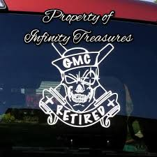Personalized Military Retired Car Decal Etsy