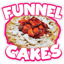 Funnel Cakes Decal Food Truck Concession Vinyl Sticker Choose Your Size