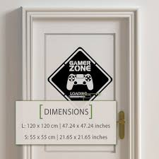 Gamer Zone Loading Playstation Wall Decal Kuarki Lifestyle Solutions