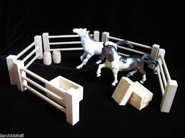Wood Toy Fence Set For Horse Stable Barn Farm Play Cool Diy Toys Toy Horse Farm Toys
