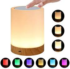 Amazon Com Glossrise Touch Sensor Camping Lantern Led Night Light Touch Lamp Bedside Table Lamp For Kids Bedroom Rechargeable Dimmable Warm White Light For Kid Baby Bedroom Office And Camping Home Kitchen
