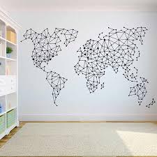 2019 Geometric World Map Wall Sticker Vinyl Home Decoration Wall Decal Living Room Bedroom Decor Art Diy Mural Decals G778 Wall Stickers Aliexpress