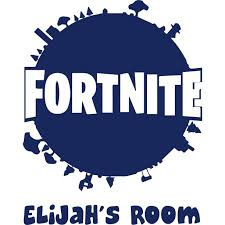 Fortnite Video Game World Map Customized Wall Decal Custom Vinyl Wall Art Personalized Name Baby Girls