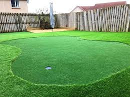 install artificial grass putting green