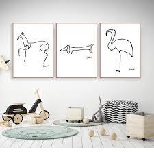 Pablo Picasso Minimalist Gallery Wall Art Set Collection Artoncanvas Store