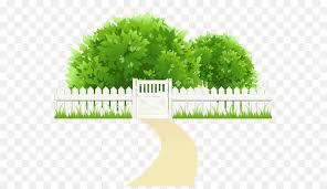 Green Grass Background Clipart Garden Fence Grass Transparent Clip Art