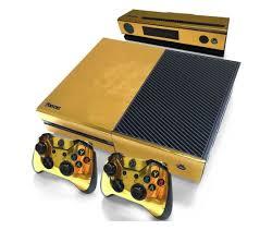 Xbox One Original Console Chrome Gold Skin Sticker Decal Vinyl Oc Gaming