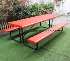 metal outdoor steel picnic table