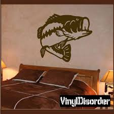 Large Mouth Bass Swift Turning Decal Vinyl Wall Decals Car Decals Vinyl Deer Decal