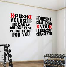 Amazon Com 2 Pro Gym Exercise Motivational Wall Decal Quotes Great Savings Push Challenge Xlarge Each Decal Is 32 X 30 80cm X 75cm Home Kitchen
