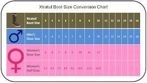 xtratuf boot conversion chart men s