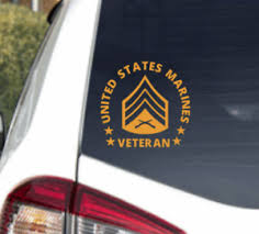 Us Marine Corps Sergeant Veteran Decal Sticker Usmc Military Car Truck Window Ebay