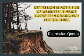 depression quotes how it changes your world greeting card poet