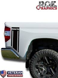 Custom Text Truck Bed Side Stripes Vinyl Decals Fits 2014 2018 Toyota Roe Graphics And Apparel