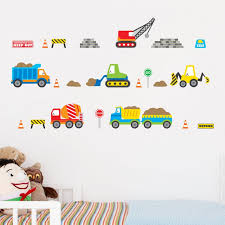 Construction Stickers Party Stickers Construction Wall Decals