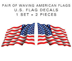 Large 15 Pair American Flag Waving Stickers Die Cut Decal Usa Us Vinyl Ebay