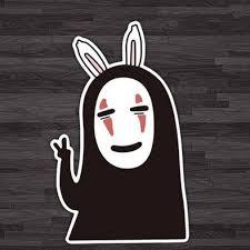 Spirited Away Haku Kaonashi Decal Mini Sticker Carsoda