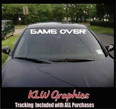 Game Over Banner Diesel Truck 1500 Car Decal Sticker Jdm Nerd Funny Video Ebay