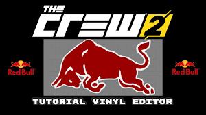 The Crew 2 Redbull Logo Speedpaint Vinyl Editor Tutorial Youtube