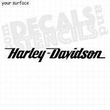 Harley Davidson Script Text Vinyl Decals And Paint Stencils