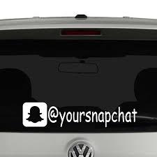 Snapchat Icon Account Tag Vinyl Decal Sticker Social Media Vinyl Decal Stickers Tag Vinyl Snapchat Icon