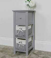 other tall slim bedside table grey