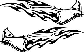 Stingray Flames Vinyl Boat Trailer Decals Xtreme Digital Graphix