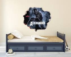 Custom Name Black Panther 3d Effect Wall Decal Egraphicstore