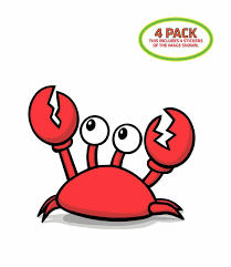Crab Sticker Vinyl Decal 4 Pack For Sale Online