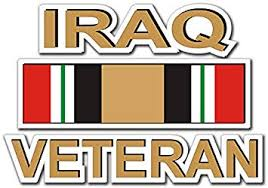 Amazon Com Military Vet Shop Magnet Us Army Iraq Veteran With Ribbon Vinyl Magnet Car Fridge Locker Metal Decal 3 8 Automotive
