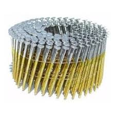 Buy Online Coil Nails For Paling Fencing 15 Degree Gal Wire