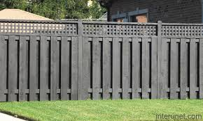 Wood Fence Painted Black Picture Interunet