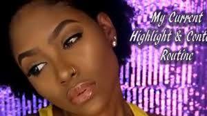 how to highlight and contour dark skin