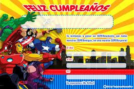 Resultado De Imagen Para Super Heroes Tarjetas De Invitacion A
