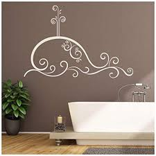 Amazon Com Azutura Swirl Whale Wall Sticker Under The Sea Wall Decal Bathroom Kids Home Decor Available In 5 Sizes And 25 Colours Large Strawberry Red Kitchen Dining