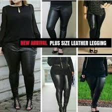 plus size leather leggings women s
