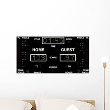 Amazon Com Wallmonkeys Vector Basketball Scoreboard Wall Decal 24 W X 16 H Medium Home Kitchen