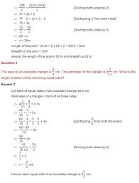 linear equation in one variable class 8