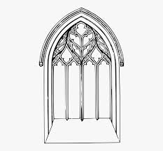 church stained glass windows drawing