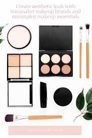 aesthetic look with minimalist makeup