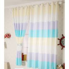 Multi Color Cotton And Polyester Kids Room Bay Window Curtains