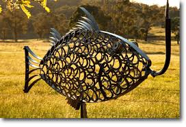recycled art junk art waste art metal