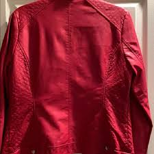 guess red leather jacket right jackets