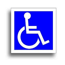 Handicap 6 X 6 Decal For Wheelchair Lift Disability Mobility Van Non Reflective Ebay