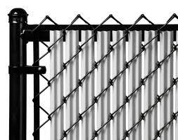 Chain Link Gray Single Wall Ridged Privacy Slat For 5ft High Fence Bottom Lock For Sale Online Ebay